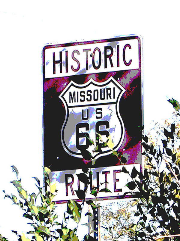 Car Poster featuring the photograph Route 66 2 by Audrey Venute