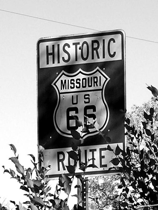 Car Poster featuring the photograph Route 66 by Audrey Venute