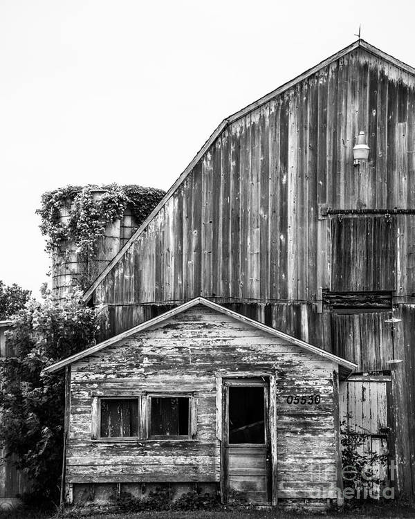Barn Poster featuring the photograph Route 66 Barn 1 by Michael Arend