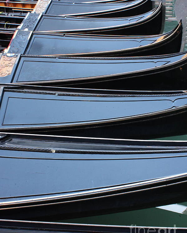 Italy Poster featuring the photograph Row Of Gondolas In Venice by Michael Henderson