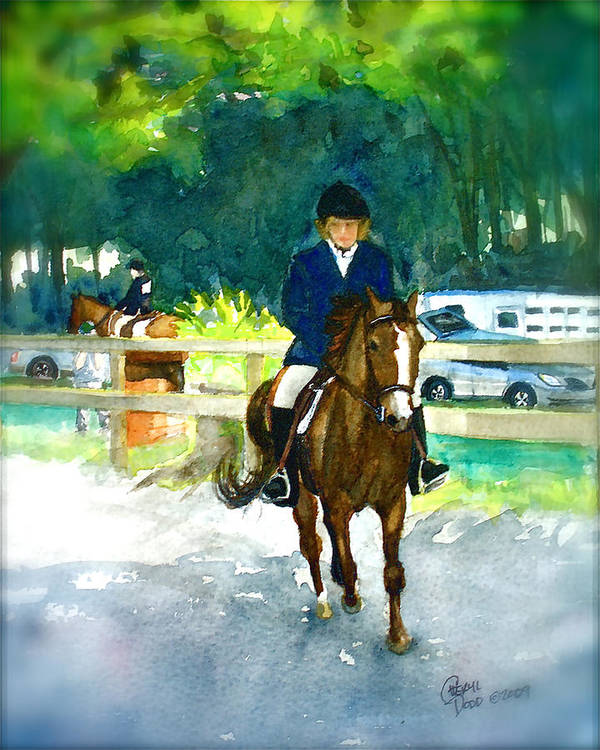Morgan Poster featuring the painting Roxy And Prissy by Cheryl Dodd