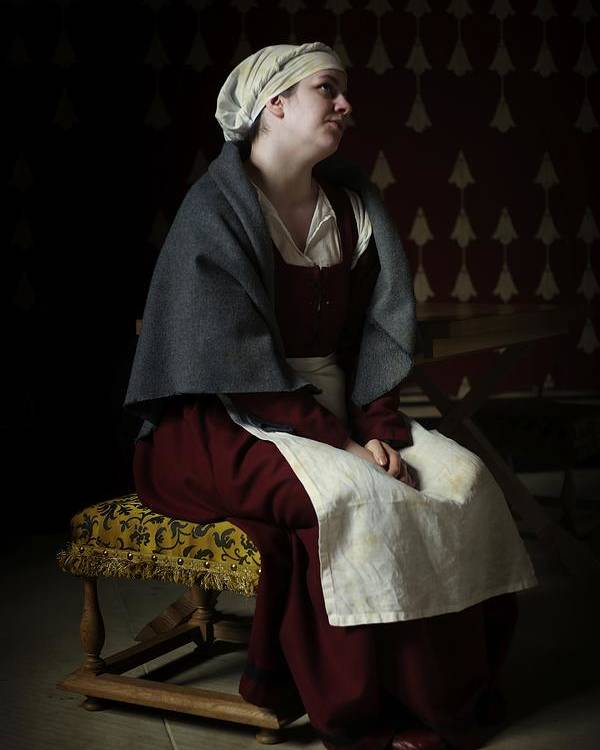 Portrait Poster featuring the photograph Royal Maid C1550 by John Fotheringham