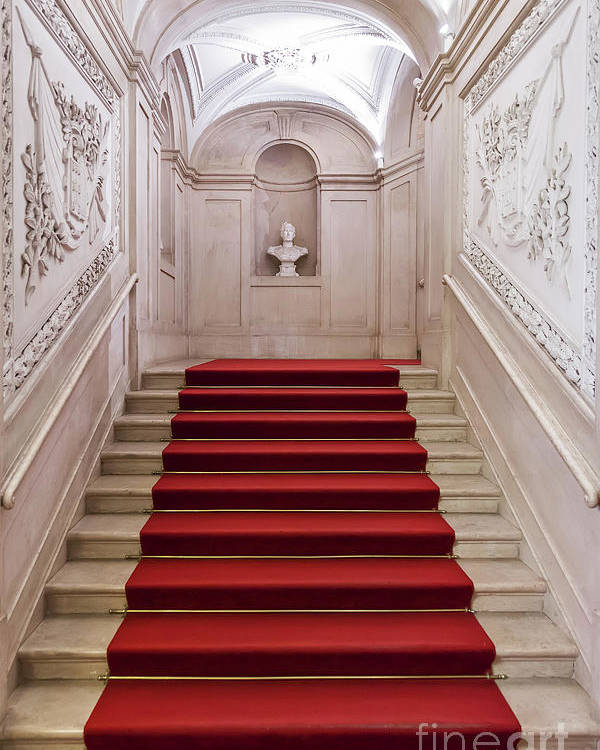 Palace Poster featuring the photograph Royal Palace Staircase by Jose Elias - Sofia Pereira