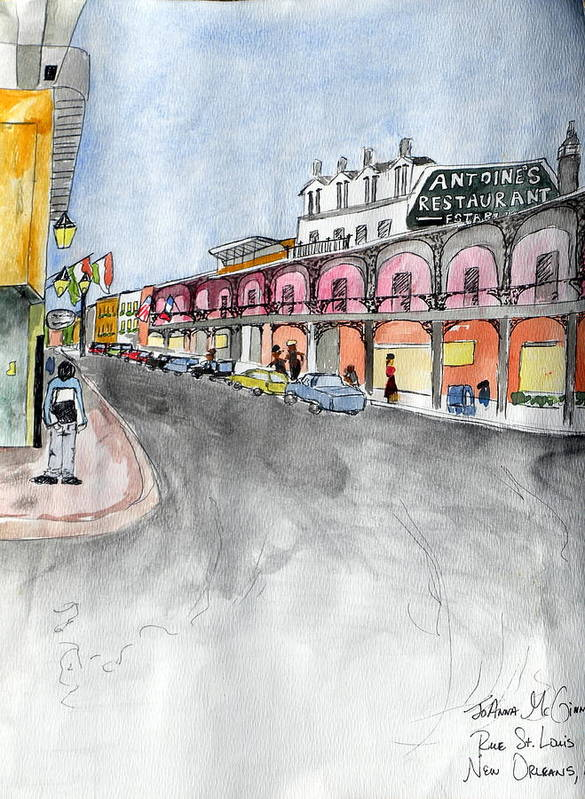 New Orleans Poster featuring the painting Rue St. Louis by Jo Anna McGinnis