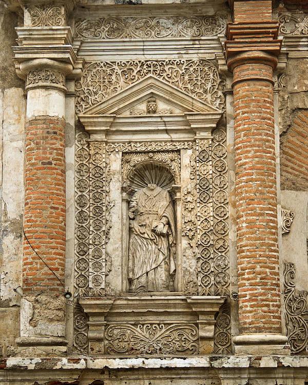 Ruins Poster featuring the photograph Ruins Of Antigua Guatemala by Douglas Barnett