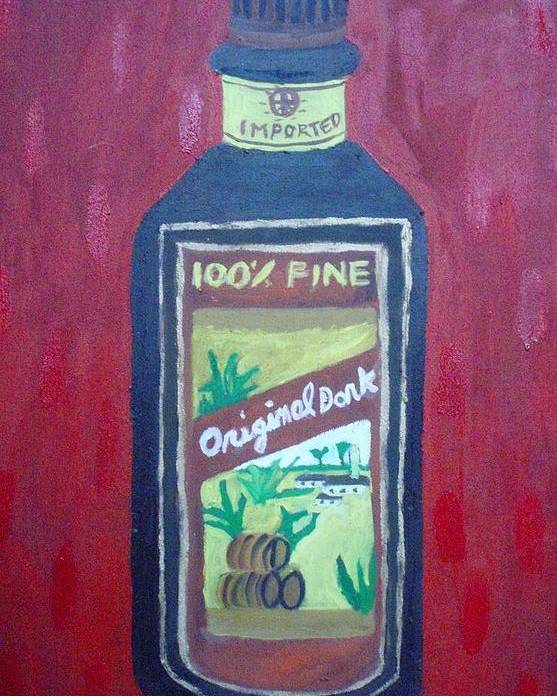 Oil On Canvas Poster featuring the painting Rum by Patrice Tullai