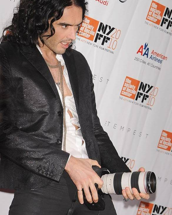 Russell Brand Poster featuring the photograph Russell Brand At Arrivals For 48th New by Everett