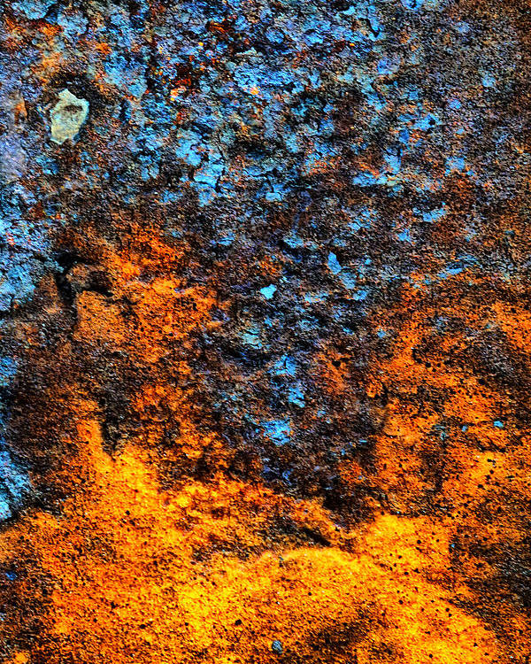 Rust Poster featuring the photograph Rust Abstract 3 by Lilia D
