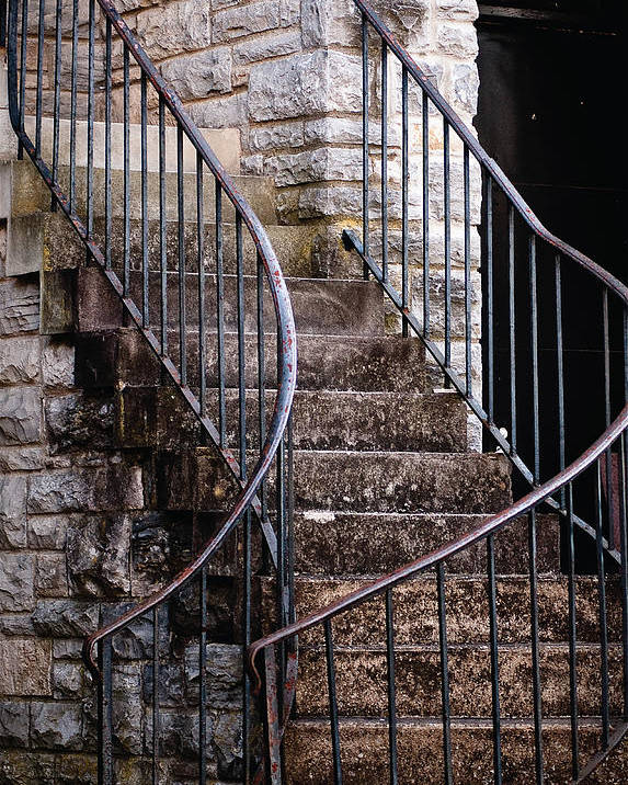 Staircase Poster featuring the photograph Rustic Staircase by Norman Jones