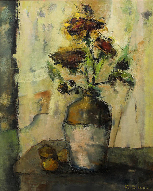 Sunflowers Poster featuring the painting Rustic Sunflowers by Blake Originals - Marjorie and Beverly