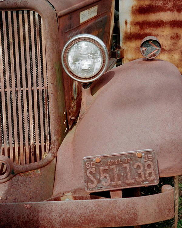 Car Poster featuring the photograph Rusty by Flavia Westerwelle