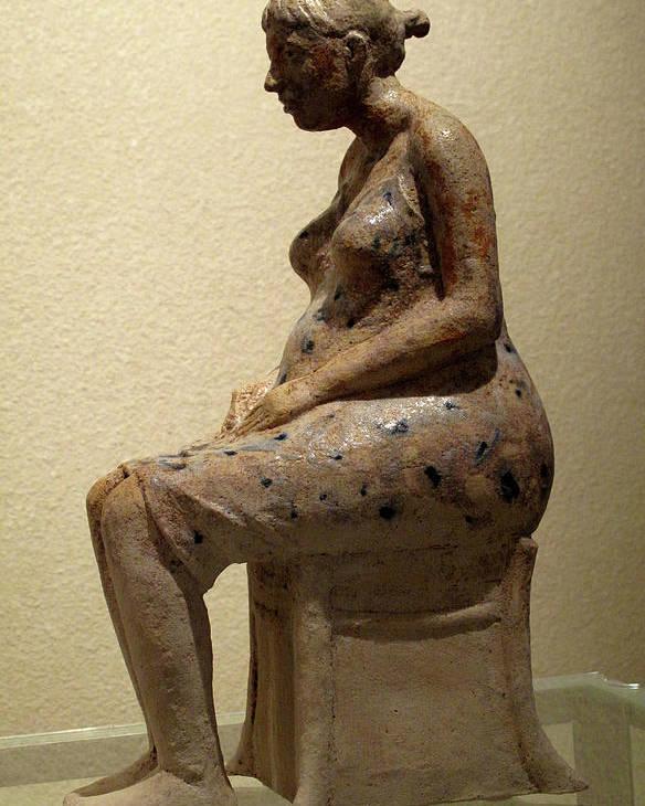 Sculpture Poster featuring the sculpture Ruta by Raimonda Jatkeviciute-Kasparaviciene