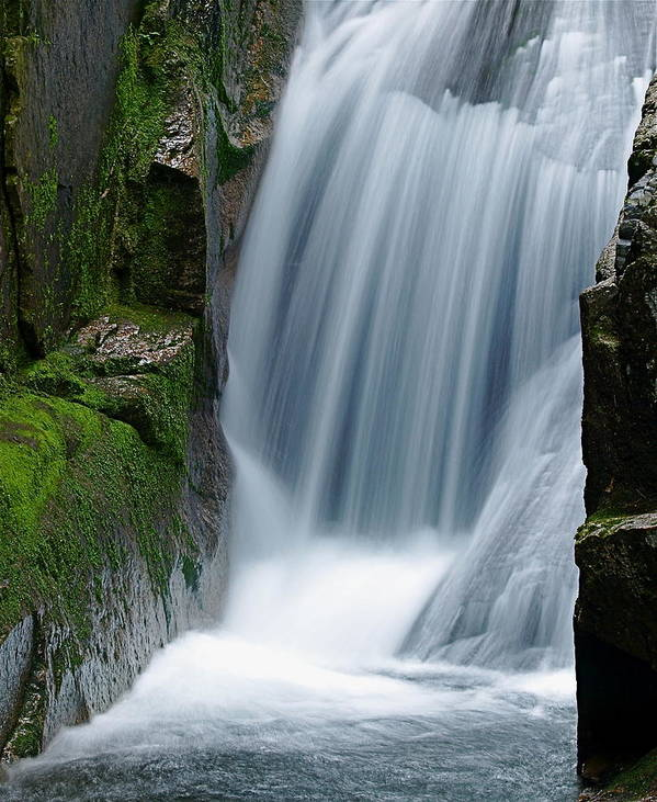 Waterfall Poster featuring the photograph Sabbaday Falls by Peter Gray