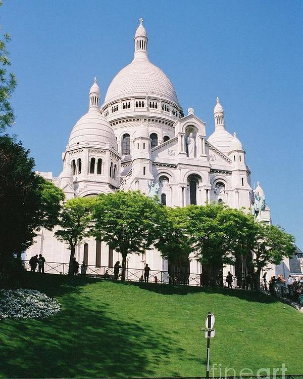 Church Poster featuring the photograph Sacre Coeur by Nadine Rippelmeyer