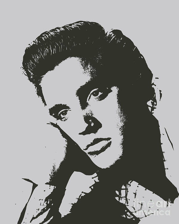 Sad Elvis Presley Poster Featuring The Painting By Pd