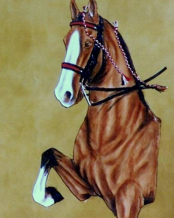 Horses Poster featuring the painting Saddlebred by Lilly King