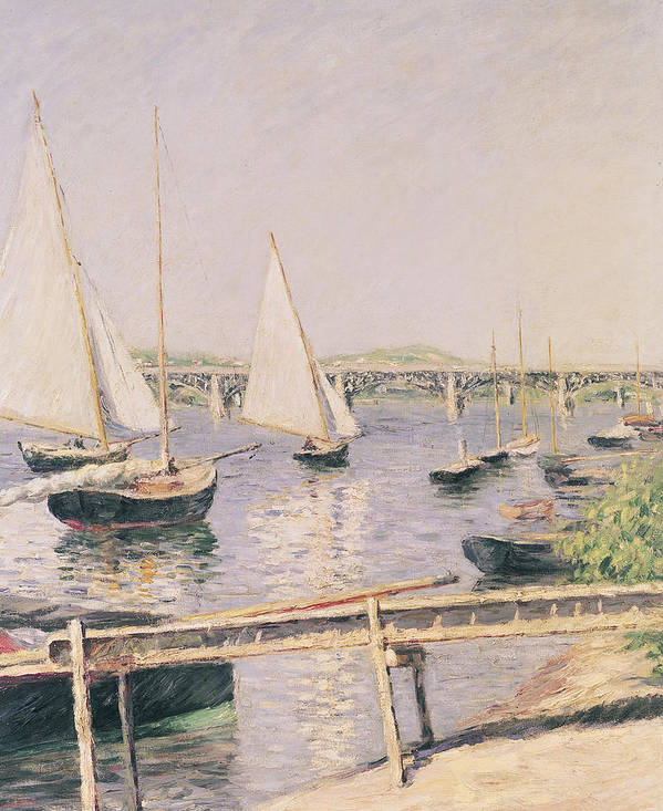 Yachting Poster featuring the painting Sailing Boats At Argenteuil by Gustave Caillebotte