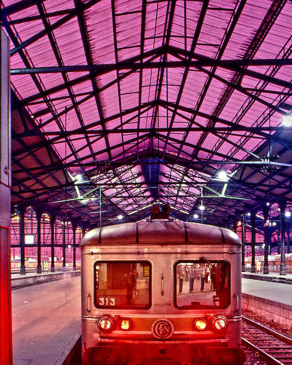 France Poster featuring the photograph Saint Lazare Station by Jean-luc Bohin