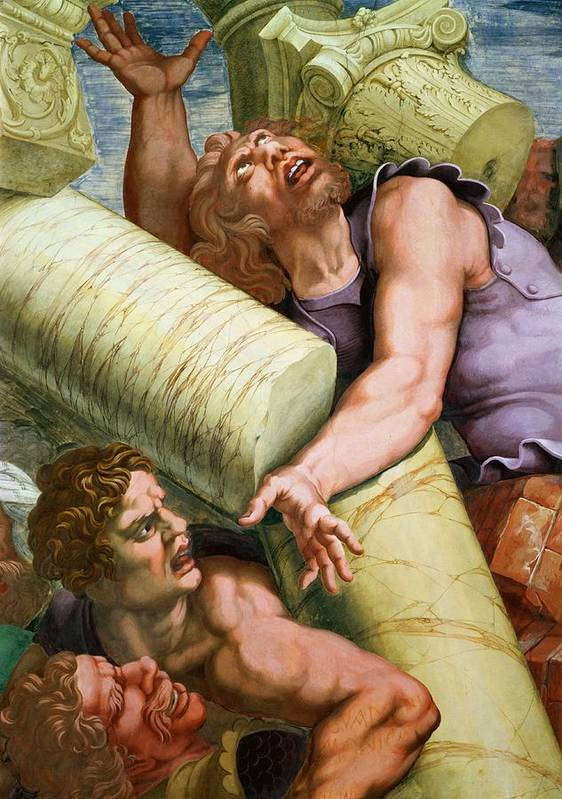 Sala Poster featuring the painting Sala Dei Giganti by Giulio Romano