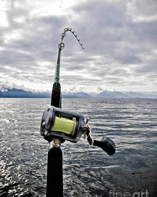 Abstract Poster featuring the photograph Salmon Fishing Rod by Darcy Michaelchuk