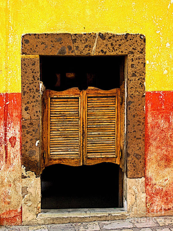 Darian Day Poster featuring the photograph Saloon Door 1 by Mexicolors Art Photography