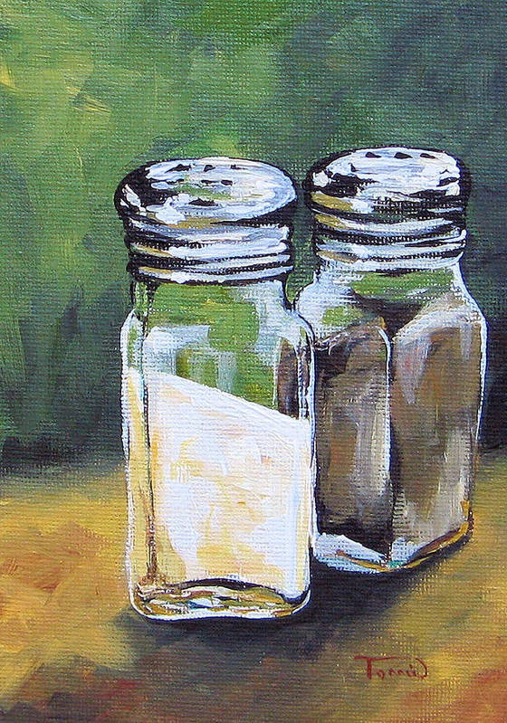 Salt Poster featuring the painting Salt And Pepper I by Torrie Smiley