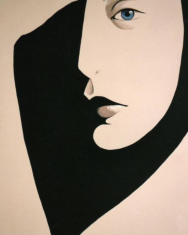 Face Poster featuring the painting Salute by Carrie Auwaerter
