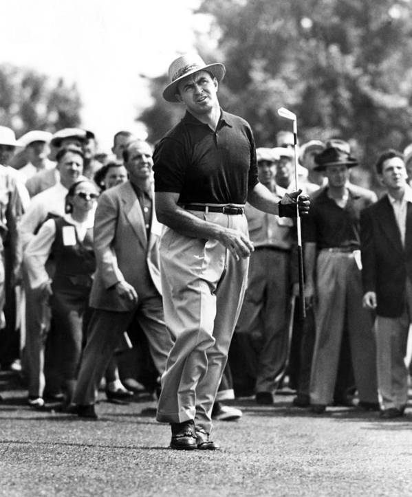 1950s Candids Poster featuring the photograph Sam Snead 1912-2002, American Golfer by Everett