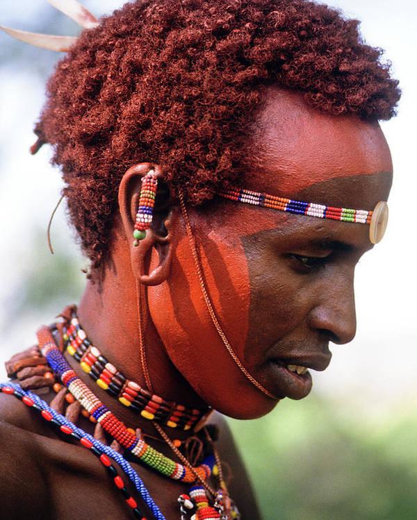 Africa Poster featuring the photograph Samburu Warrior by Michele Burgess