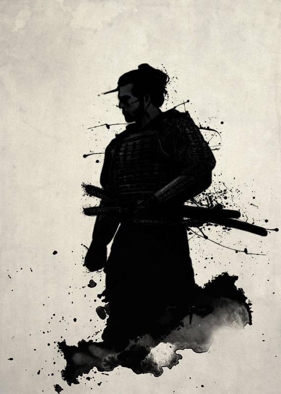 Samurai Poster featuring the painting Samurai by Nicklas Gustafsson