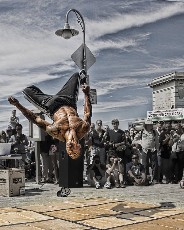 Break Dancer Poster featuring the photograph San Francisco Breakdancer by Rich Beer