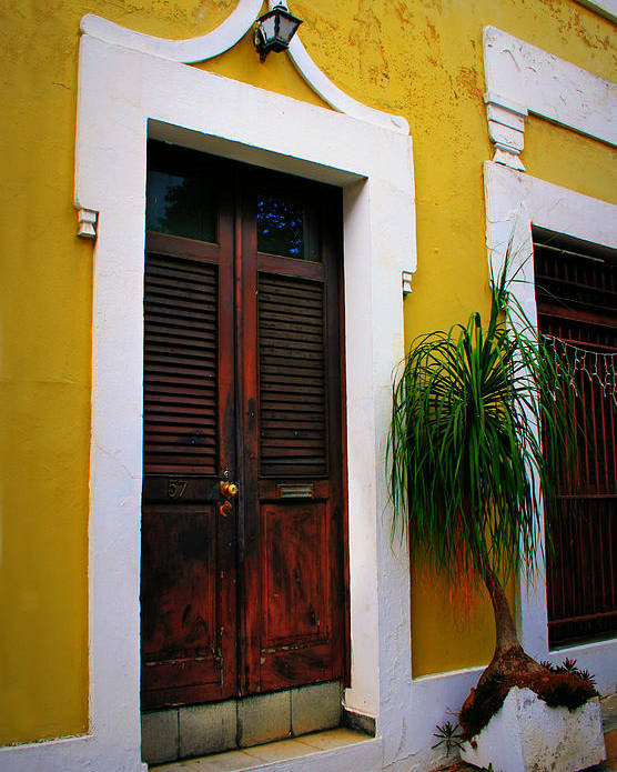 Door Poster featuring the photograph San Juan Doors by Perry Webster