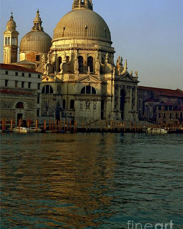 Venice Poster featuring the photograph Santa Maria Della Salute In Venice In Morning Light by Michael Henderson