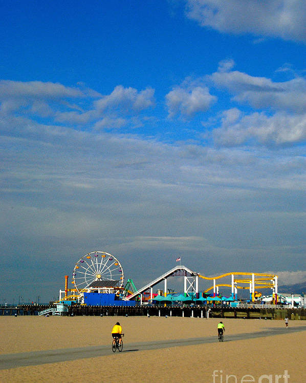 Santa Monica Poster featuring the photograph Santa Monica Pier by Marc Bittan