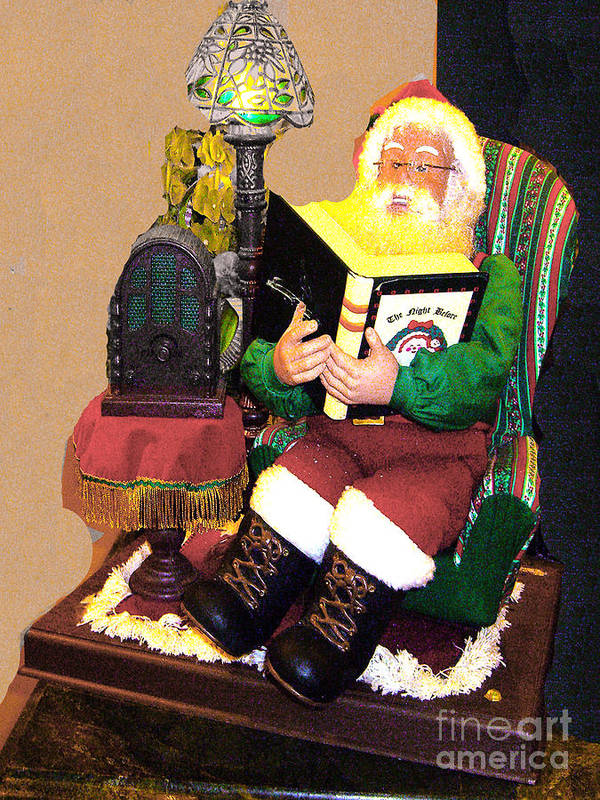 Santa Poster featuring the photograph Santa Reads A Story To The Children by Merton Allen
