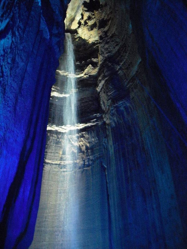 Sapphire Poster featuring the photograph Sapphire Ruby Falls by Pamela Smith