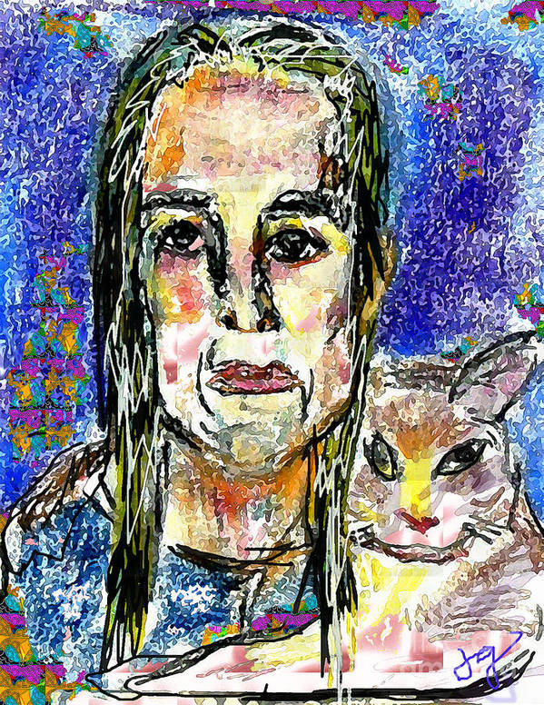 Woman Poster featuring the mixed media Sarah And Shai by Joyce Goldin