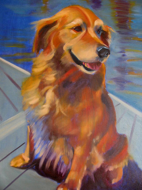 Golden Retriever Poster featuring the painting Sasha by Kaytee Esser