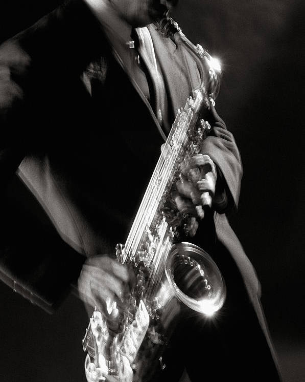 Sax Poster featuring the photograph Sax Man 1 by Tony Cordoza