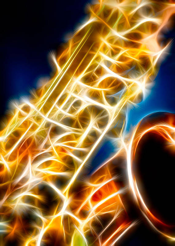Canon Poster featuring the photograph Saxophone 2 by Hakon Soreide