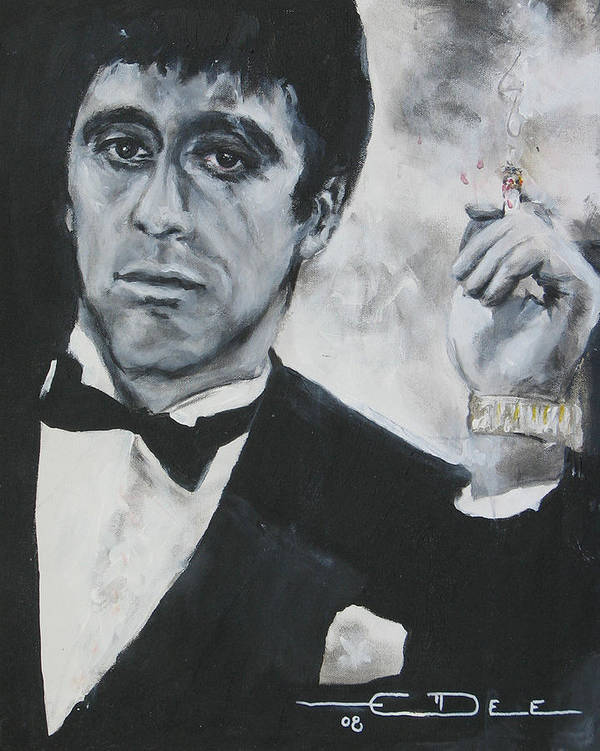 Al Pacino Poster featuring the painting Scarface2 by Eric Dee
