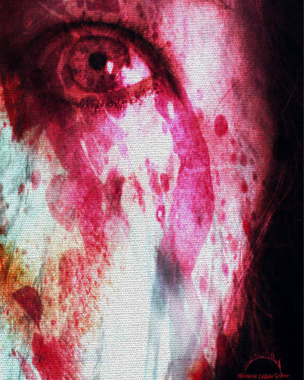 Eyes Poster featuring the digital art Scarlet Vision by Absinthe Art By Michelle LeAnn Scott