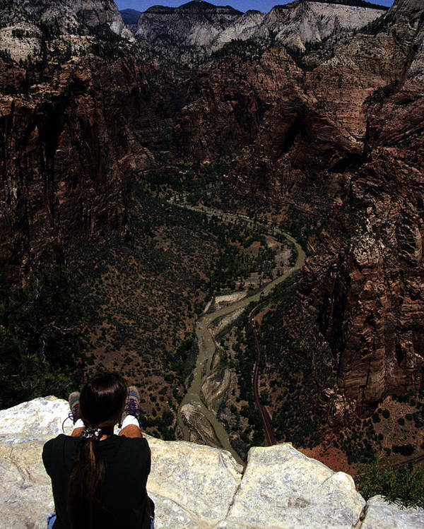 Zion National Park Poster featuring the photograph Scenic View Of Zion National Park by Stacy Gold