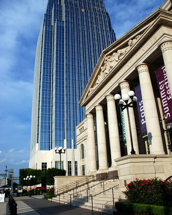 Nashville Poster featuring the photograph Schermerhorn Symphony Center Nashville by Susanne Van Hulst