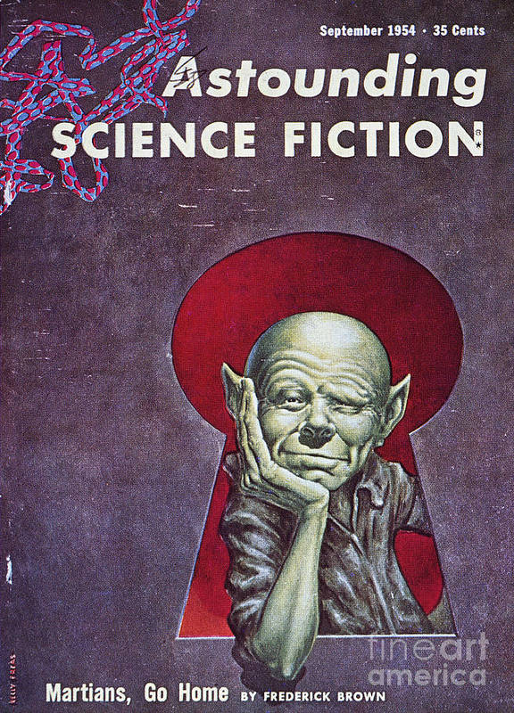 1954 Poster featuring the photograph Science Fiction Cover, 1954 by Granger