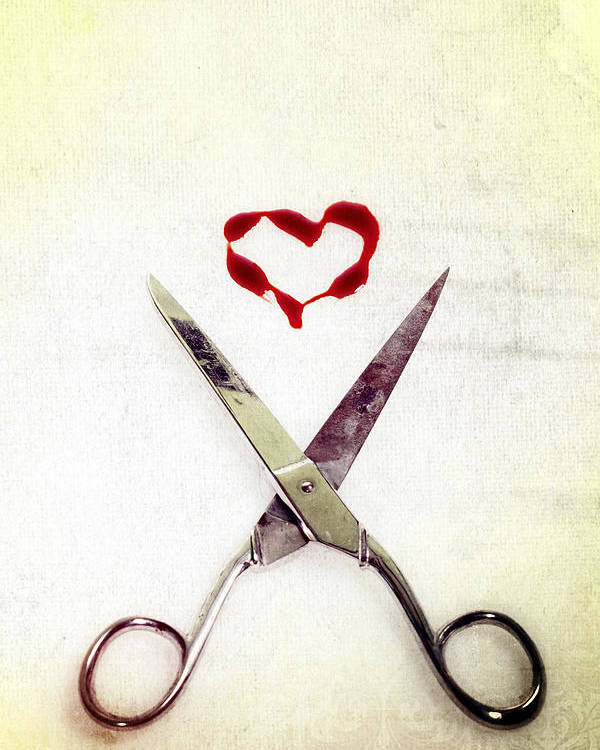 Scissors Poster featuring the photograph Scissors And Heart by Joana Kruse
