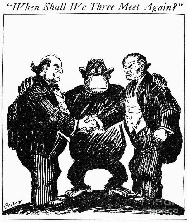 Scopes Trial Cartoon 1925 Poster By Granger
