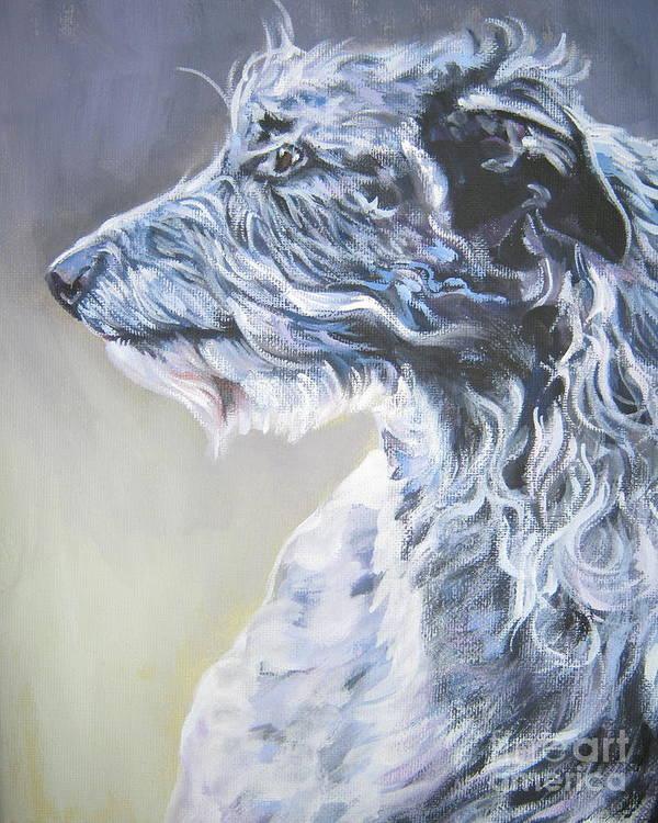 Scottish Deerhound Poster featuring the painting Scottish Deerhound by Lee Ann Shepard