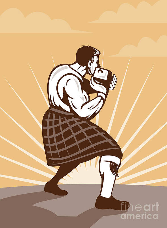 Scot Poster featuring the digital art Scottish Games by Aloysius Patrimonio
