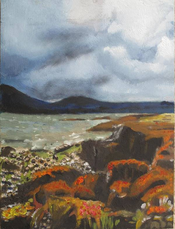 Scottland Poster featuring the painting Scottish Lowlands by Keith Bagg